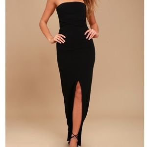 Lulus Black Strapless Maxi Dress